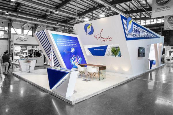 طراحی غرفه نمایشگاهی رهیاب پیام گستران