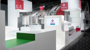 Exhibition booth at Eternit BAU2015 architecture and building industry exhibition