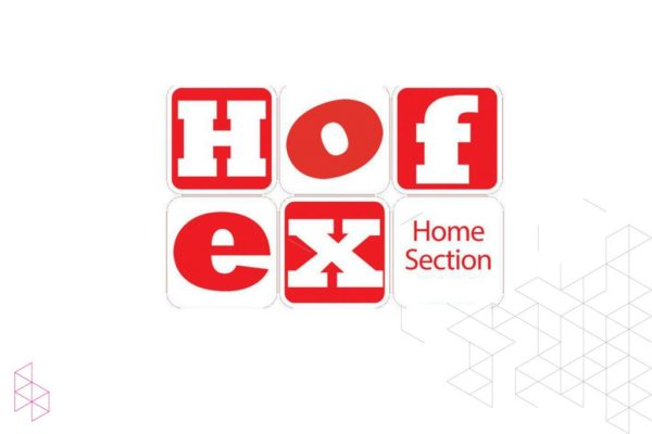 Booth at the HOFEX 2018 home furniture fair