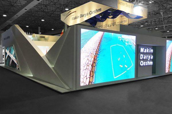طراحی غرفه نمایشگاهی مکین دریا قشم