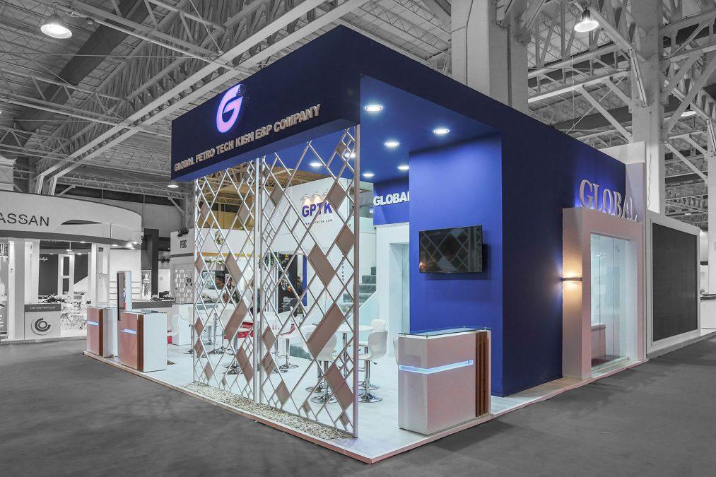 غرفه نمایشگاهی گلوبال پترو تک کیش