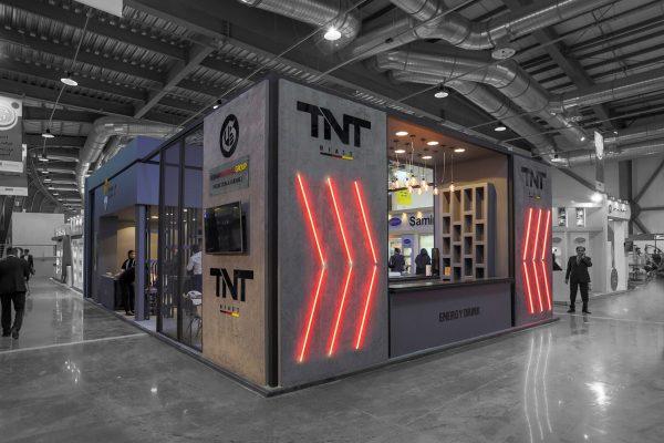 طراحی غرفه نمایشگاهی سحرچین TNT