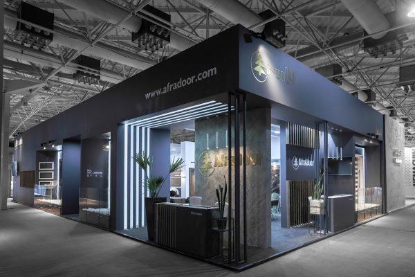 طراحی غرفه نمایشگاهی افرا درب