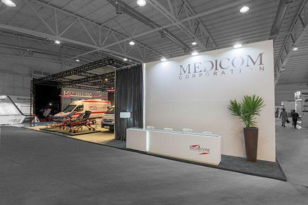 طراحی غرفه نمایشگاهی مدیکام
