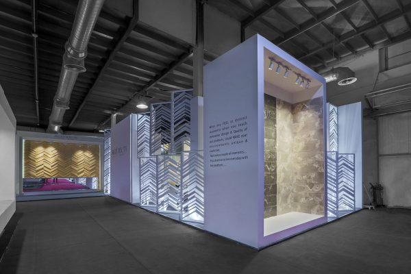 طراحی غرفه نمایشگاهی کاشی ویسنته